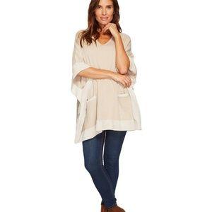 Calvin Klein Suede Sweater Cape